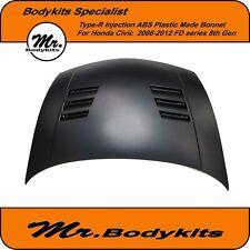 Type-R Injection Plastic Vented Bonnet Suit Honda Civic 2006-2012 FD 8th Gen