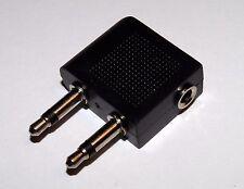 Airplane Aircraft Headphone Adaptor for 3.5mm Jack Plug Jack Socket Converter