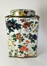 Vintage Tin Daher Long Island NY Made in England Floral Biscuit Tea Tin