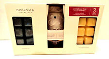 SONOMA LIFE STYLE 3 PIECE GIFT SET SCENTED WAX CUBE OUTLET WARMER