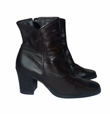 Enzo Angiolini Brown Leather Side zip size 6M Ankle Boots