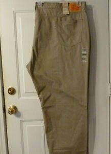 NWT Levis 559 Relaxed Straight Khaki Jeans sz 58 x 30.5