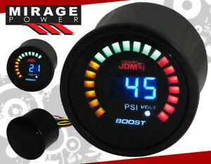 "2"" 52mm Digital Blue Led JDM Turbo Boost Meter Racing Monitoring Gauge For Scion"