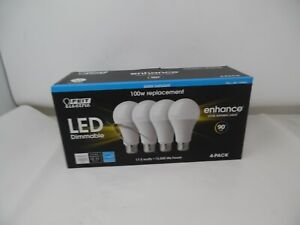 Feit Dimmable LED 5000K Daylight 4-Pack (100W Replacement) 17.5W
