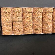 "Cork Rings 36 Burl Mix # 5  , 1 1/4"" x 1/2"" x 1/4"" Hole"