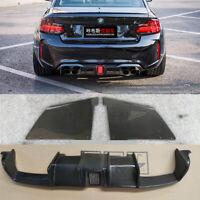 Fits For BMW F87 M2 only Carbon Fiber Rear Bumper Diffuser Lip W/LED 2016+