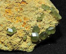 Apple Green Demantoid Andradite Garnet Crystals in Matrix from Madagascar