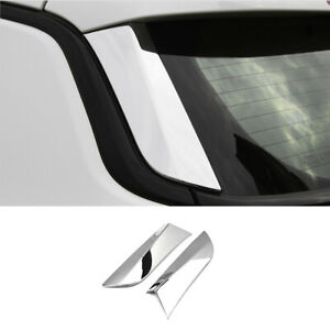 For 2017-2020 Jeep Compass ABS Chrome Rear Window Side Pillar Cover Trim 2PCS