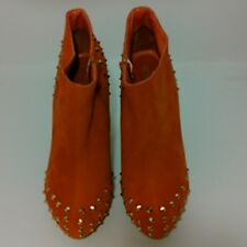 Orange Gold Studded Boots