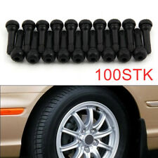 100 Pcs TR414 New Tubeless Rubber Car Tyre Wheel Valves Universal Black