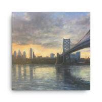 "Philadelphia Sunset Canvas Print 12""x12"""