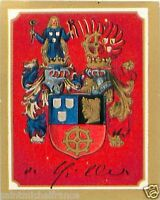 Oskar von Miller Germany Armoiries Coat of Arms IMAGE CHROMO 30s