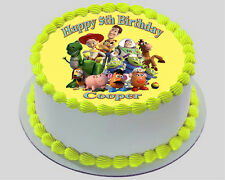 TOY STORY  REAL EDIBLE ICING ROUND CAKE TOPPER PARTY IMAGE FROSTING SHEET