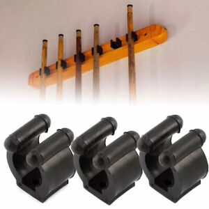 20pcs Wall Mounted Fishing Rod Storage Clips Clamps Holder Rack Organizer Tool