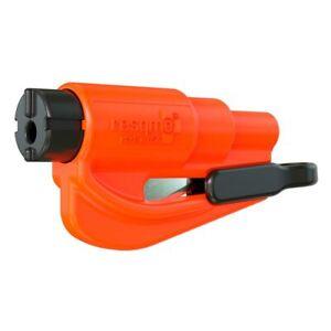 resqme® Car Escape Tool - Orange, 1 pack, Seatbelt Cutter / Window Breaker