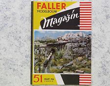 Faller  AMS --  Modellbau Magazin 51 von 1966, Sprache niederländisch
