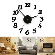 3D Creative Modern Diy Wall Clock Sticker Home Room Office Decor Time