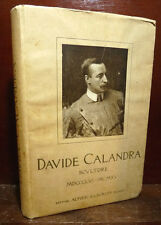 ARTE SCULTURA - RICCI Corrado : DAVIDE CALANDRA Scultore - 1916 Alfieri Lacroix