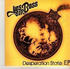 (CV52) Yes Sir Boss, Desperation State EP - 2012 DJ CD