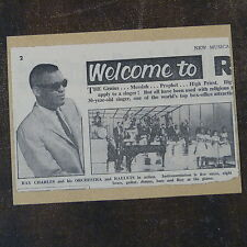 POP-KARD feat. RAY CHARLES 1963 cutting [ 11x15 greeting card aaj