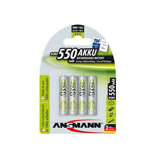 4 x ANSMANN RC03 AAA Micro Batterie NiMH 550 mAh pour PHILIPS ONIS ,Kala TD