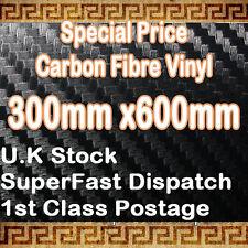 3D Fibre De Carbone Noir Vinyle Wrap Feuille Autocollant 0,3 m (11.8 in) x0.75 m (29,5 dans)