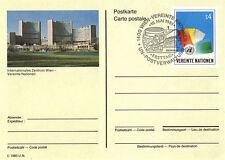Nazioni UNITE 1985 S4 pre pagata cartolina primo giorno annullato Vienna SHS
