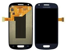 GLS DISPLAY LCD+TOUCH SCREEN per SAMSUNG GALAXY S3 MINI GT i8190 VETRO BLUE BLU