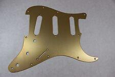 Brushed Gold Anodized  Aluminum SSS Strat Pickguard- Fits Fender Stratocaster