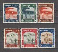 S35918 Cyrenaica 1934 MNH Art Colonial Pa Saxon A24/29 6v
