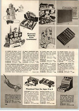 1956 PAPER AD Robert The Robot Toy Remco Electronic Radio Station Holster Set