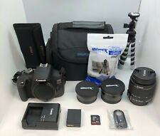 Canon EOS Rebel T7 Camera kit 18-55mm w/ 58mm Wide & 58mm Telephoto Lens MINT