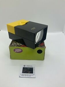 VINTAGE PHOTO SLIDE VIEWER - BOOTS DIAPO (1960's/1970's With Box) Made In France