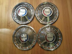 63 Ford 300 Galaxie 500 Country Sedan Squire 14-inch Wheel Cover Set USED