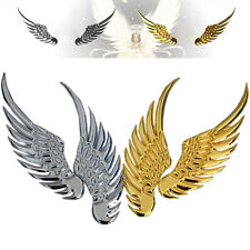 2x Auto Aufkleber 3D Chrom Emblem Flügel Abzeichen Decals Metall Gold/Silber//