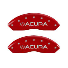 MGP Caliper Covers Engraved Front & Rear For Acura | Red | 39001SACURD