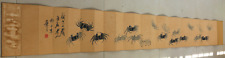 """Excellent Chinese 100% Handed Painting Album """"Crabs """" By Qi baishi 齐白石 ALZZ7896"""