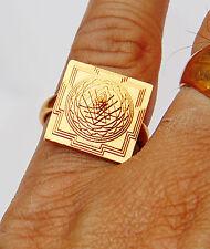 Meru 3D yantra (Sriyantra) ring in Brass ~ Fully Adjustable