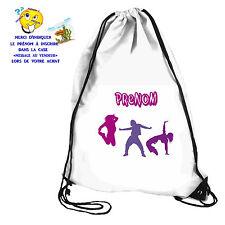 Sac de piscine sac de gym  danse hip hop personnalisable avec prénom réf 67
