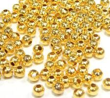 300 Metallperlen Zwischenteile SPACER Rund 4mm GOLD Metall Schmuck BEST SF27