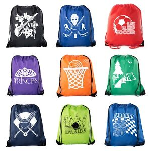 Goodie Bags for Kids   Drawstring Gift Bags with Logo for Bdays, Parties + More