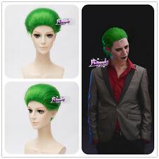 Green Short Wig Hair for Comic Harley Quinn Joker Anime Cosplay Wig + Wig Cap