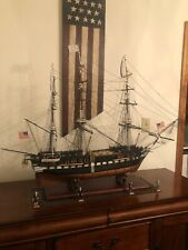 """Uss Constitution 45"""" Tall Ship Model W/figures"""