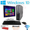 HP 8200 SFF Quad Core i5 i7 Computer Desktop PC 16GB RAM HDD SSD Monitor Bundle