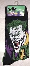 DC The Joker Crew Socks 2 Pair Mens 6-12 NEW! Black Purple Squad Batman Harley