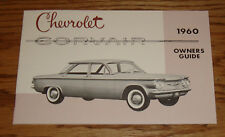 1960 Chevrolet Corvair Owners Operators Manual Guide 60 Chevy