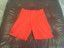 Under Armour Golf boys adjustable waist red loose fit golf shorts size Ylg,