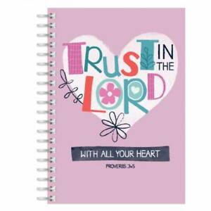 Trust In The Lord A5 Christian Notebook Ruled with Bible Verse Christian Gift