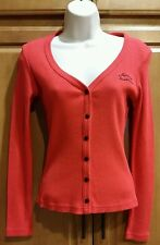 Harley-Davidson Womens Size S Red SnapUp Cardigan Cotton Shirt Tigard Oregon.