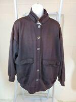Gitano Vintage 1980s Rare Gray Oversize Jacket Unisex Double Collar Coat M